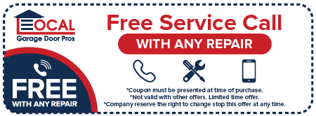 Free service call for garage reapir
